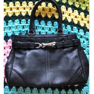 Coach signature hampton leather y2k tote bag purse